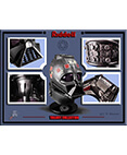 Darth Vader Trilogy Die Cast Metal Miniature Helmets