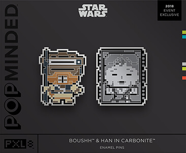 Star Wars Hallmark Boushh and Han in Carbonite pin set