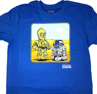 Star Wars Celebration Orlando 2017 R2-D2 / C-3PO T-Shirt Large
